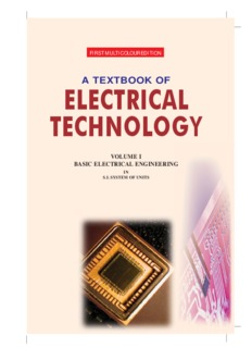 A Textbook of Electrical Technology Volume I – Basic Electrical Engineering