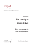 Electronique  analogique : des composants vers les systèmes